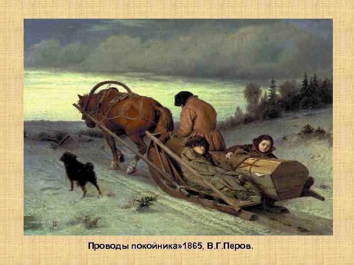 Проводы покойника» 1865, В. Г. Перов.