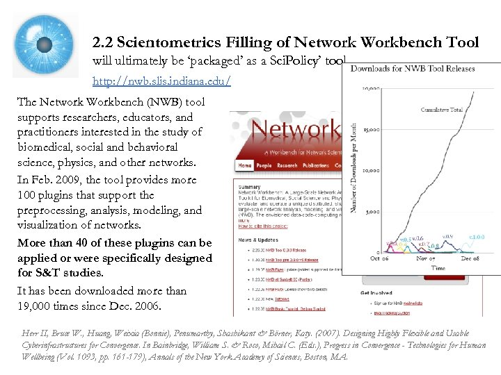 2. 2 Scientometrics Filling of Network Workbench Tool will ultimately be 'packaged' as a