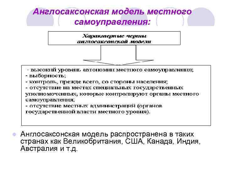 Общая Характеристика Англосаксонской Системы Местного Самоуправления Шпаргалка