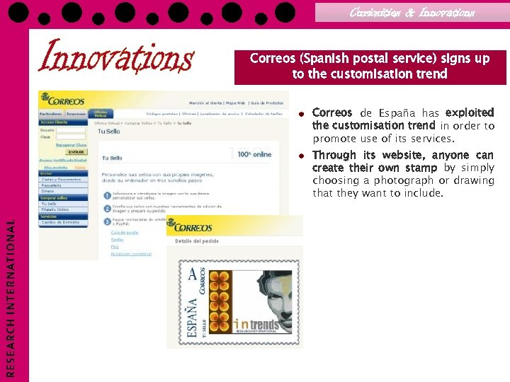 Curiosities & Innovations Correos (Spanish postal service) signs up to the customisation trend Correos
