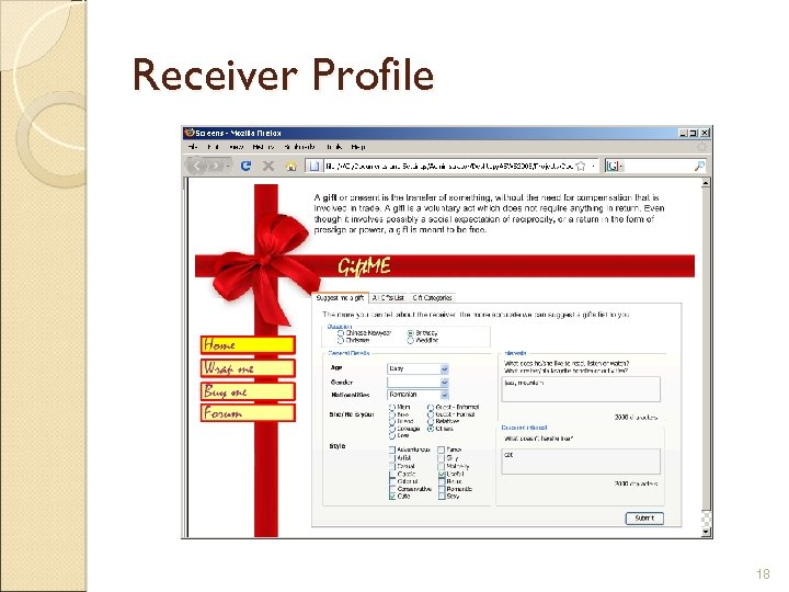 Receiver Profile 18