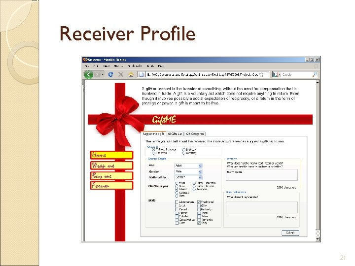 Receiver Profile 21