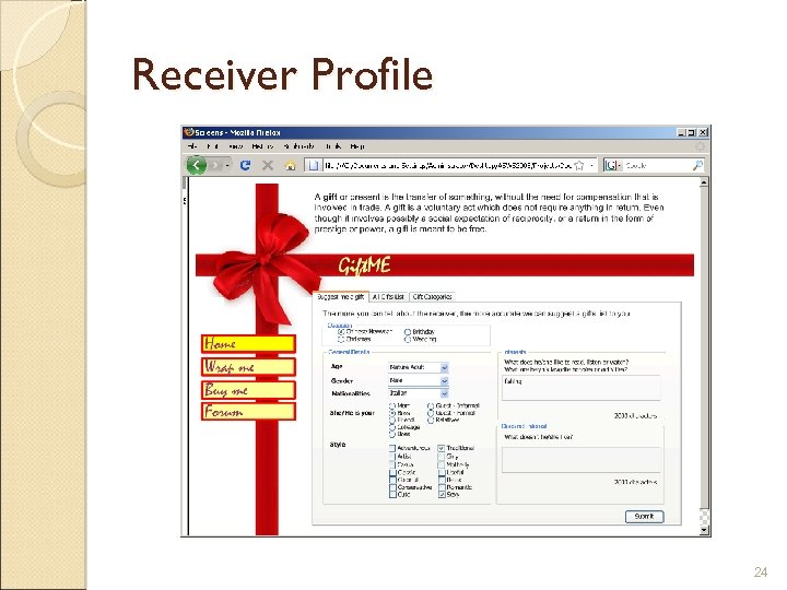 Receiver Profile 24