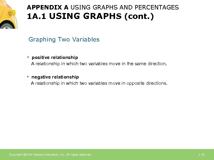 APPENDIX A USING GRAPHS AND PERCENTAGES 1 A. 1 USING GRAPHS (cont. ) Graphing