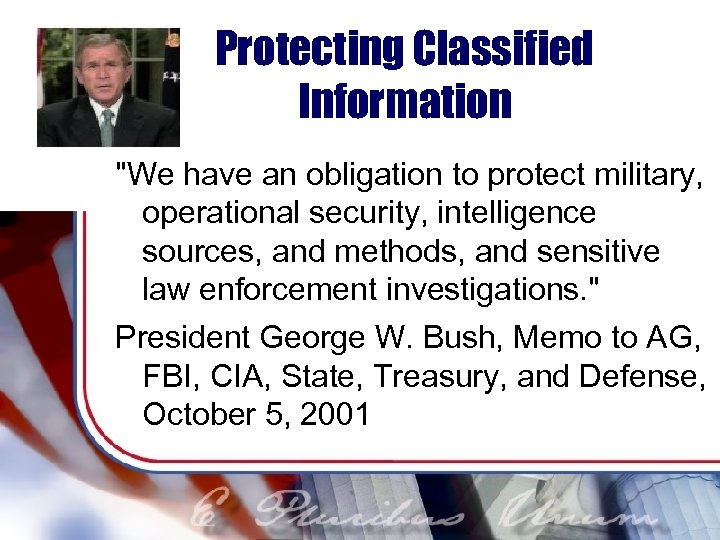 Protecting Classified Information