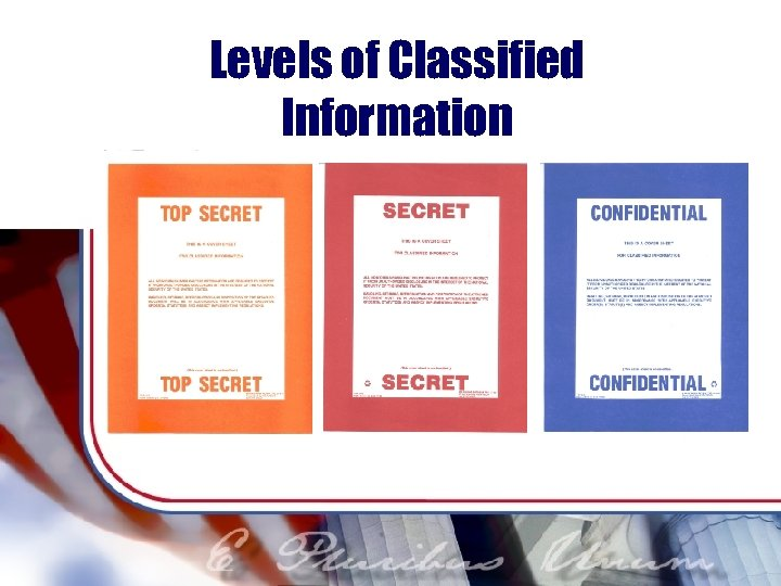 Levels of Classified Information