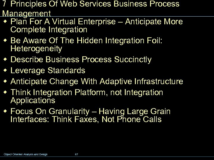 7 Principles Of Web Services Business Process Management w Plan For A Virtual Enterprise