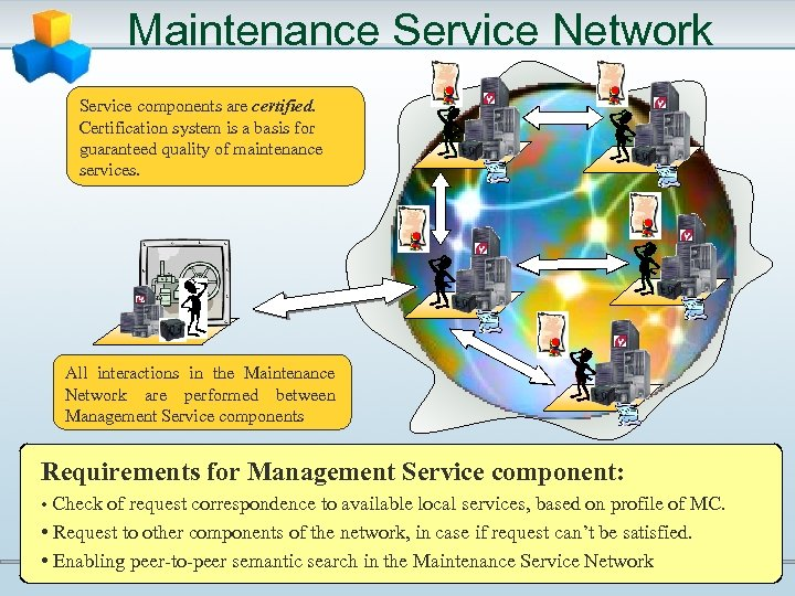Maintenance Service Network Service components are certified. Certification system is a basis for guaranteed