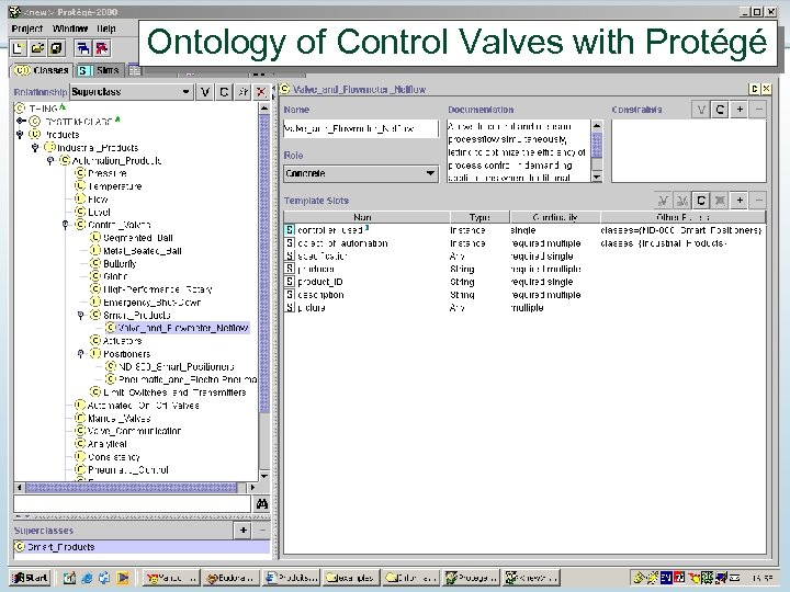 Ontology of Control Valves with Protégé