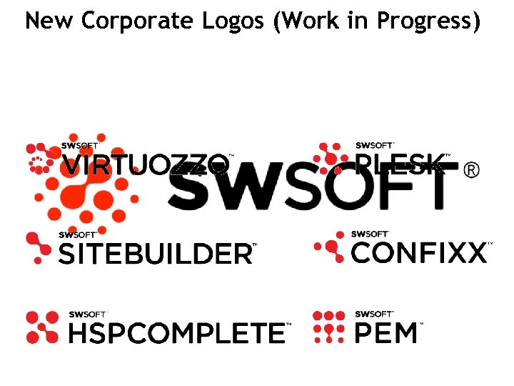 New Corporate Logos (Work in in Progress) Branding – Corporate Logo (Work Progress) 35