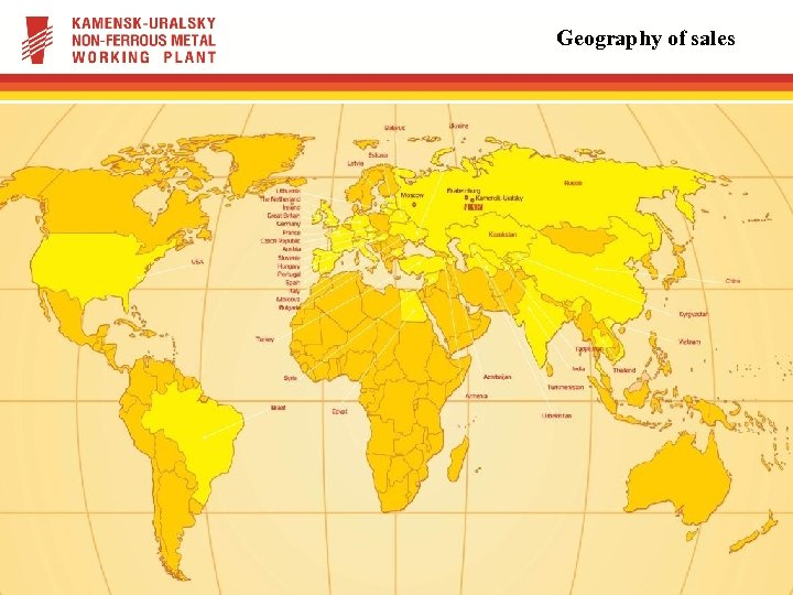 Geography of sales