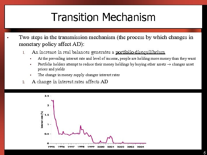 Transition Mechanism • Two steps in the transmission mechanism (the process by which changes