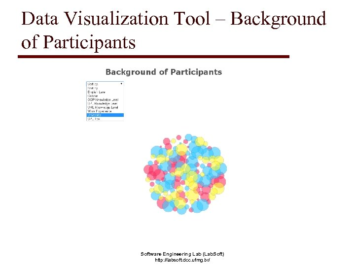 Data Visualization Tool – Background of Participants Software Engineering Lab (Lab. Soft) http: //labsoft.