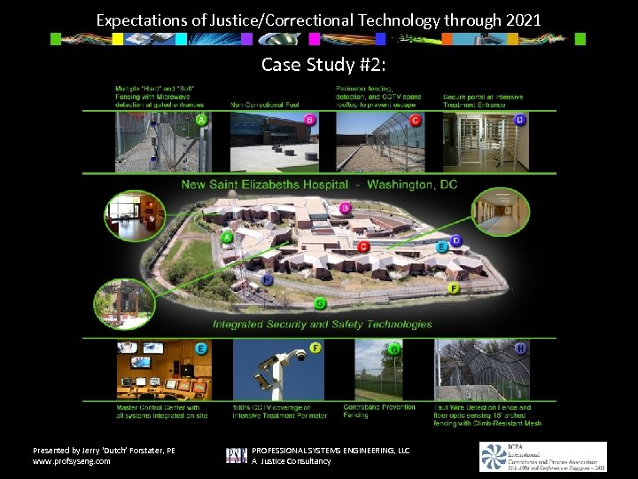 Expectations of Justice/Correctional Technology through 2021 Case Study #2: Presented by Jerry 'Dutch' Forstater,