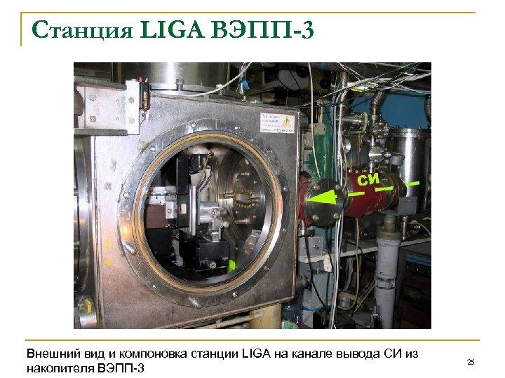 Станция LIGA ВЭПП-3 Внешний вид и компоновка станции LIGA на канале вывода СИ из