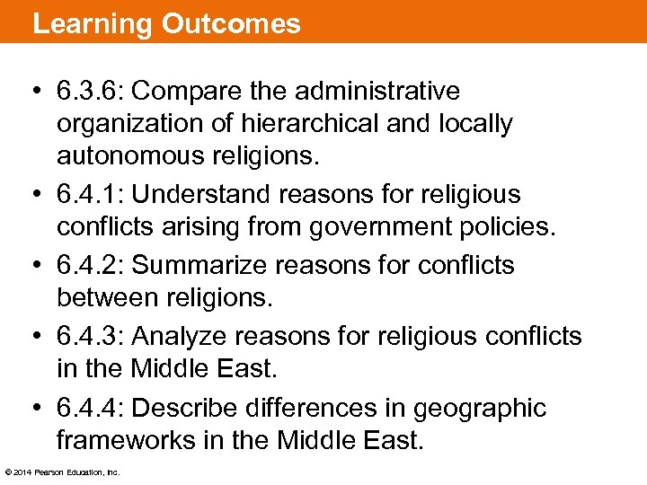 Learning Outcomes • 6. 3. 6: Compare the administrative organization of hierarchical and locally
