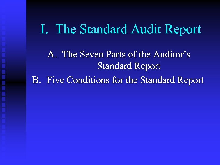 an essay on the purpose and usefulness of the the standard audit report or sar An audit report is a written opinion of an auditor regarding an entity's financial statements  the report is written in a standard format, as mandated by an audit also includes evaluating the appropriateness of the accounting policies used and the reasonableness of the accounting estimates.