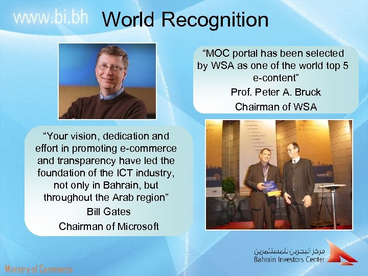 """World Recognition """"MOC portal has been selected by WSA as one of the world"""