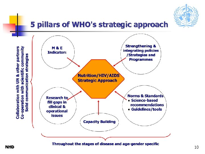 5 pillars of WHO's strategic approach NHD 10