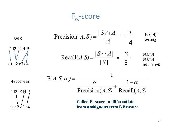F -score Gold f 1 f 2 f 3 f 4 f 5 e
