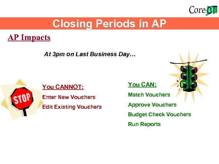 Accounts Payable Impacts Closing Periods in AP AP Impacts At 3 pm on Last