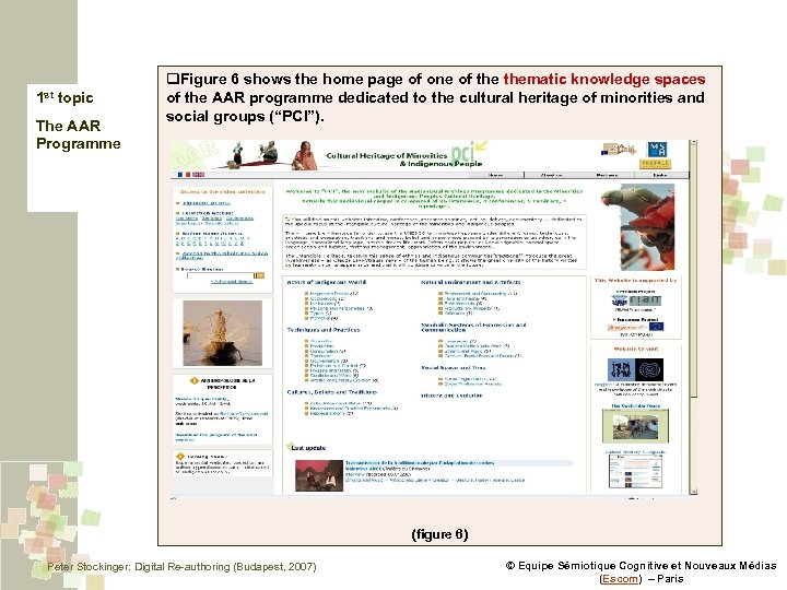 1 st topic The AAR Programme q. Figure 6 shows the home page of