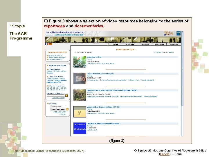 1 st topic q Figure 3 shows a selection of video resources belonging to
