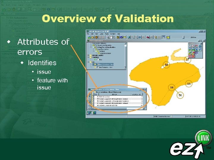 Overview of Validation w Attributes of errors w Identifies • issue • feature with