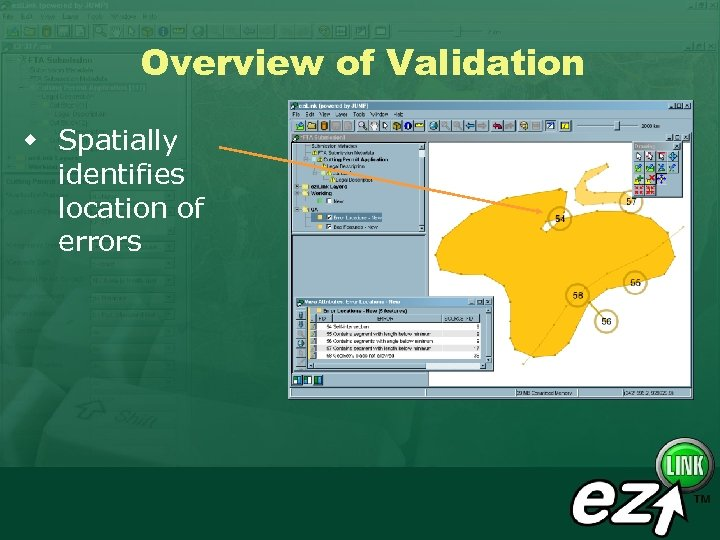 Overview of Validation w Spatially identifies location of errors