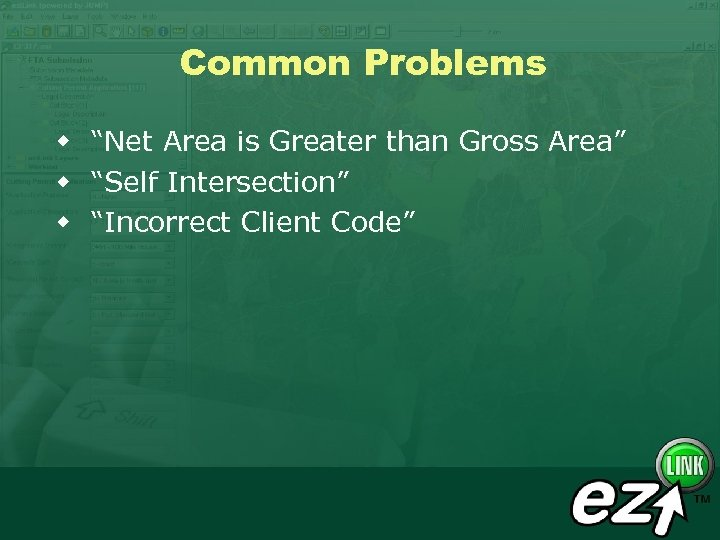 """Common Problems w """"Net Area is Greater than Gross Area"""" w """"Self Intersection"""" w"""