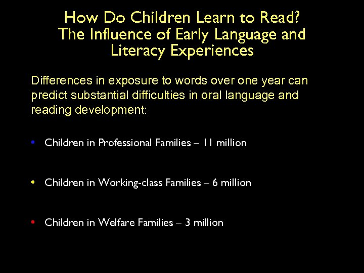 How Do Children Learn to Read? The Influence of Early Language and Literacy Experiences