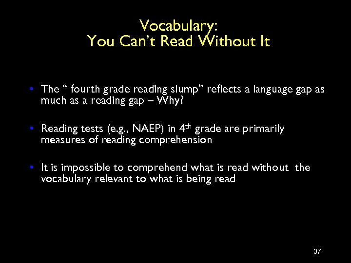 """Vocabulary: You Can't Read Without It • The """" fourth grade reading slump"""" reflects"""