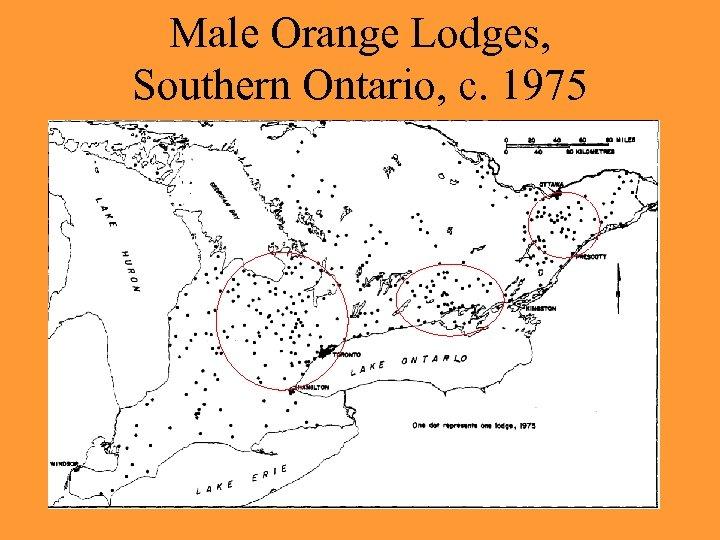 Male Orange Lodges, Southern Ontario, c. 1975