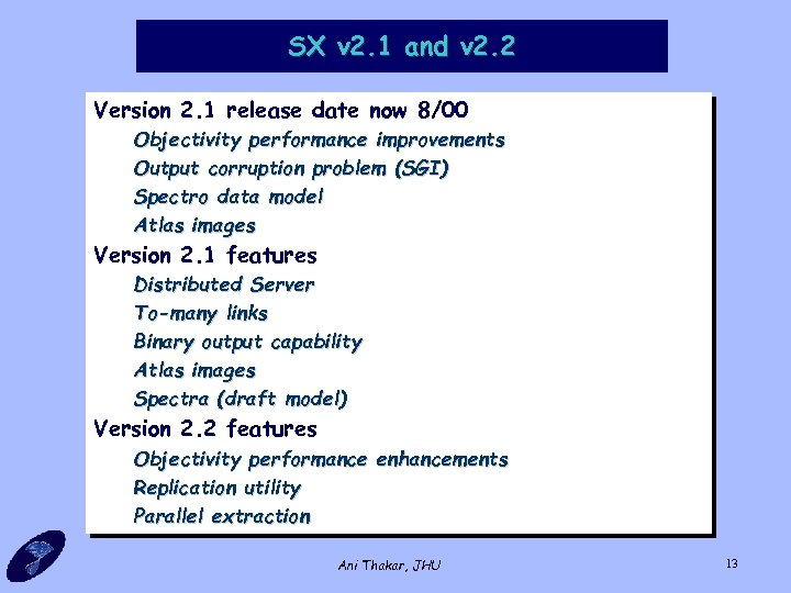 SX v 2. 1 and v 2. 2 Version 2. 1 release date now