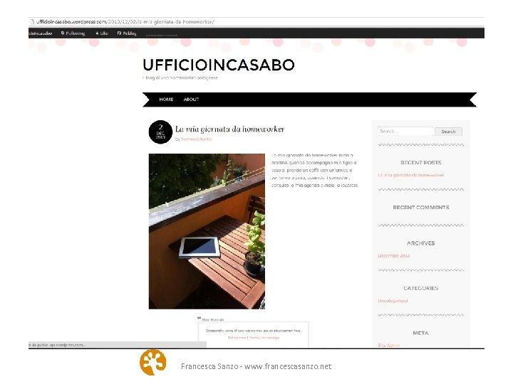 Francesca Sanzo - www. francescasanzo. net