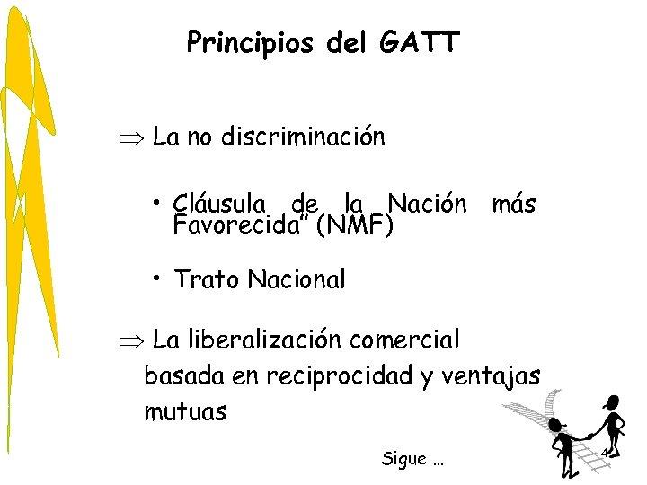 """Principios del GATT Þ La no discriminación • Cláusula de la Nación más Favorecida"""""""