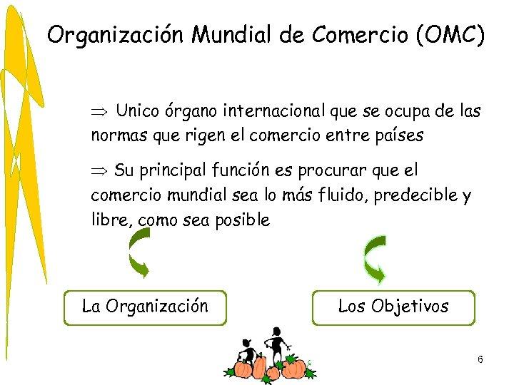 Organización Mundial de Comercio (OMC) Þ Unico órgano internacional que se ocupa de las