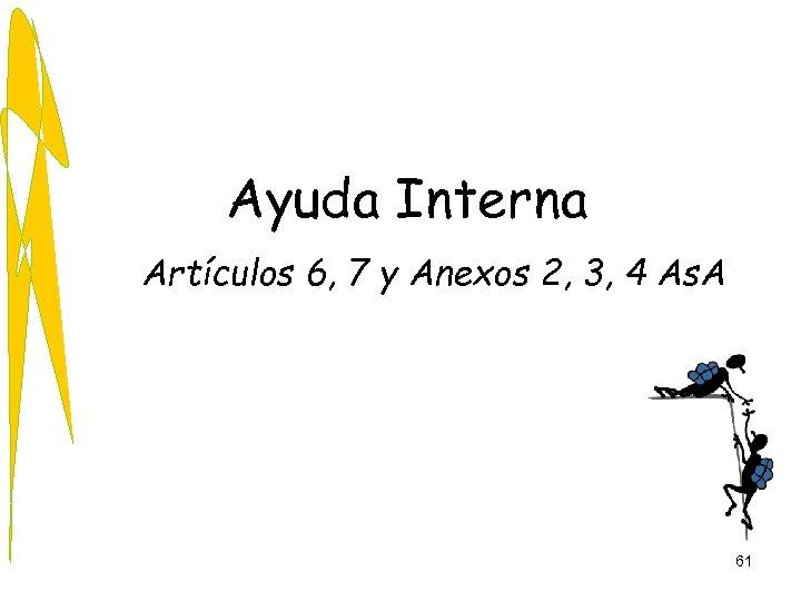 Ayuda Interna Artículos 6, 7 y Anexos 2, 3, 4 As. A 61