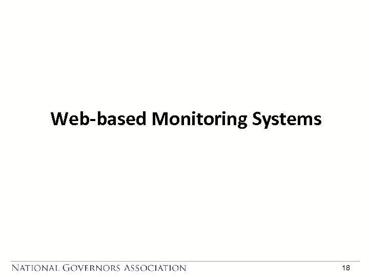 Web-based Monitoring Systems 18