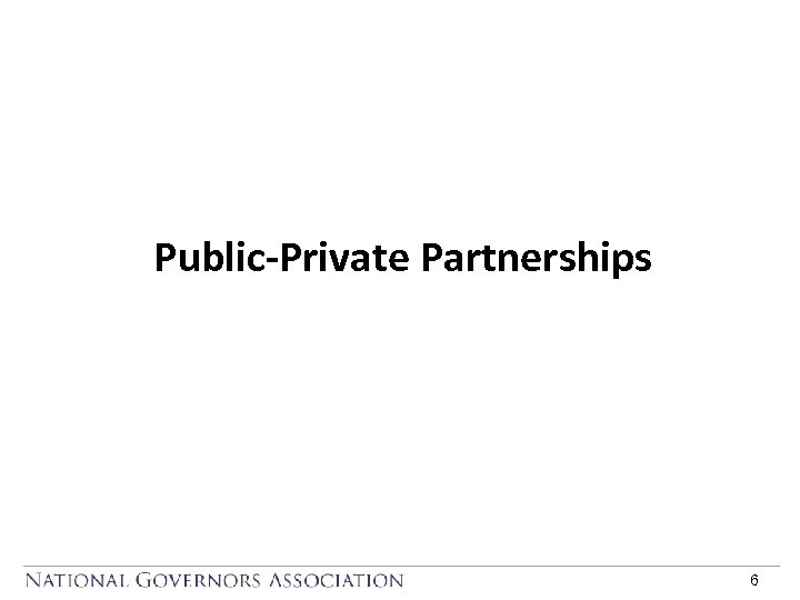Public-Private Partnerships 6
