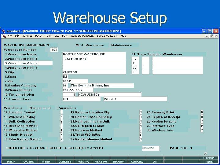 Warehouse Setup 10