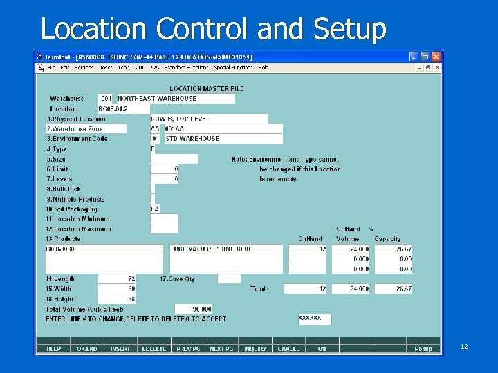 Location Control and Setup 12