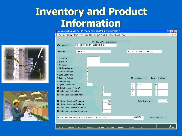Inventory and Product Information 14