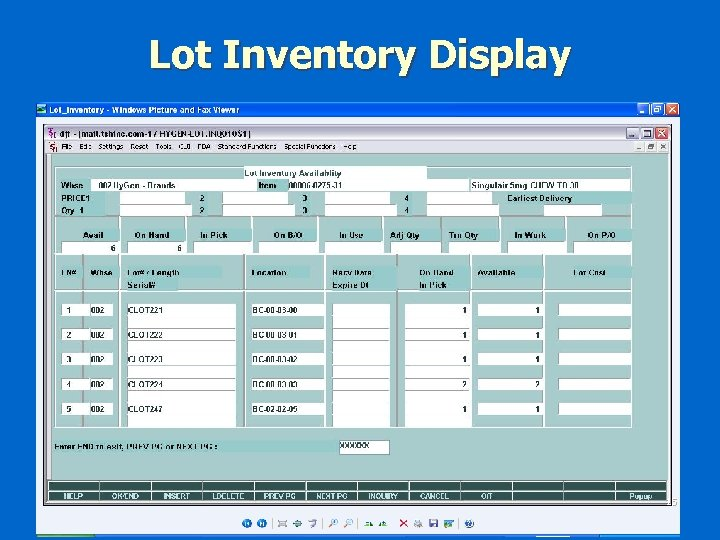 Lot Inventory Display 15
