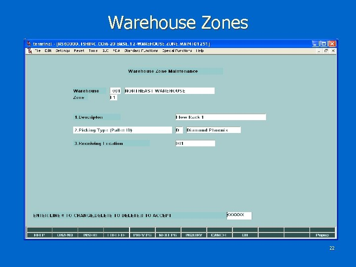 Warehouse Zones 22