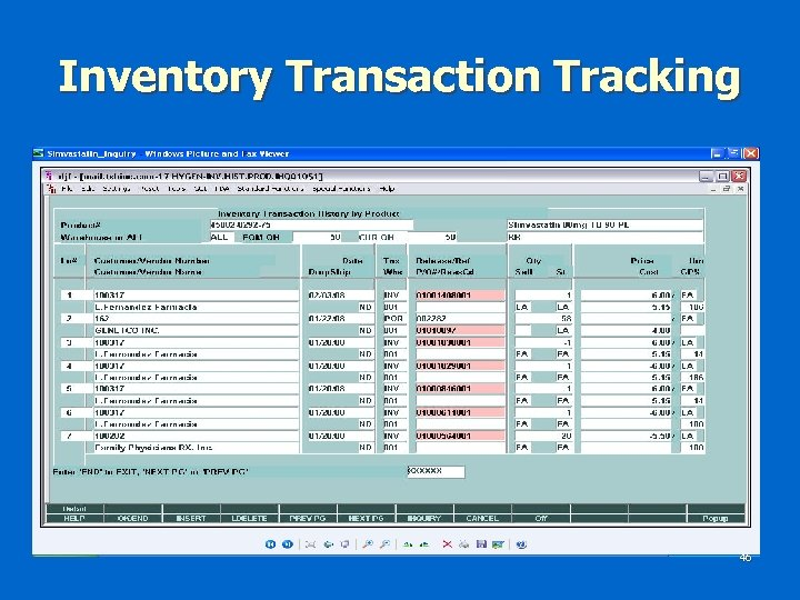 Inventory Transaction Tracking 46