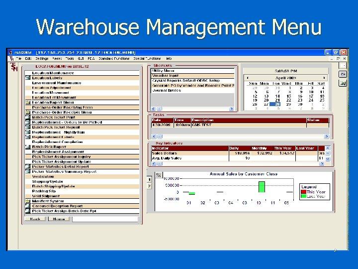 Warehouse Management Menu 9