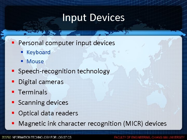 Input Devices § Personal computer input devices § Keyboard § Mouse § § §