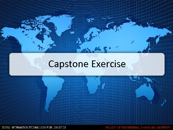 Capstone Exercise