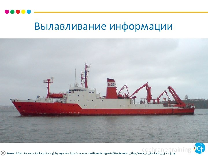 Вылавливание информации cochrane training Research Ship Sonne In Auckland I (crop) by Ingolfson http: